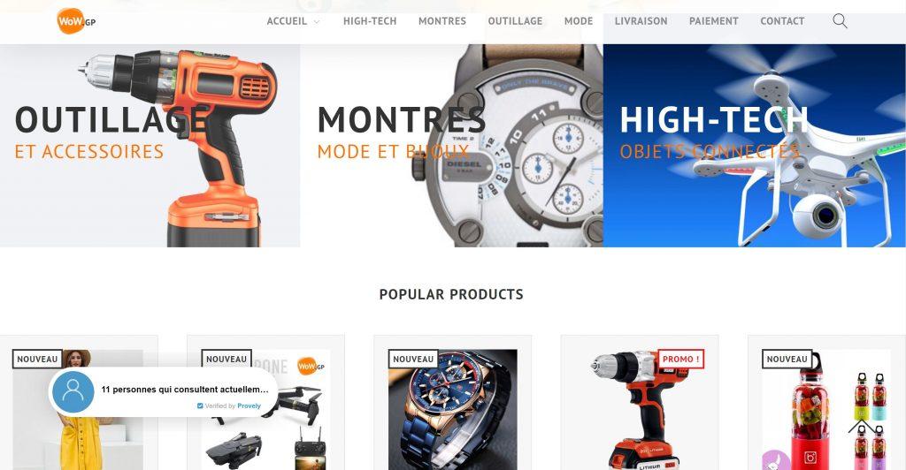 Boutique ecommerce WoW !