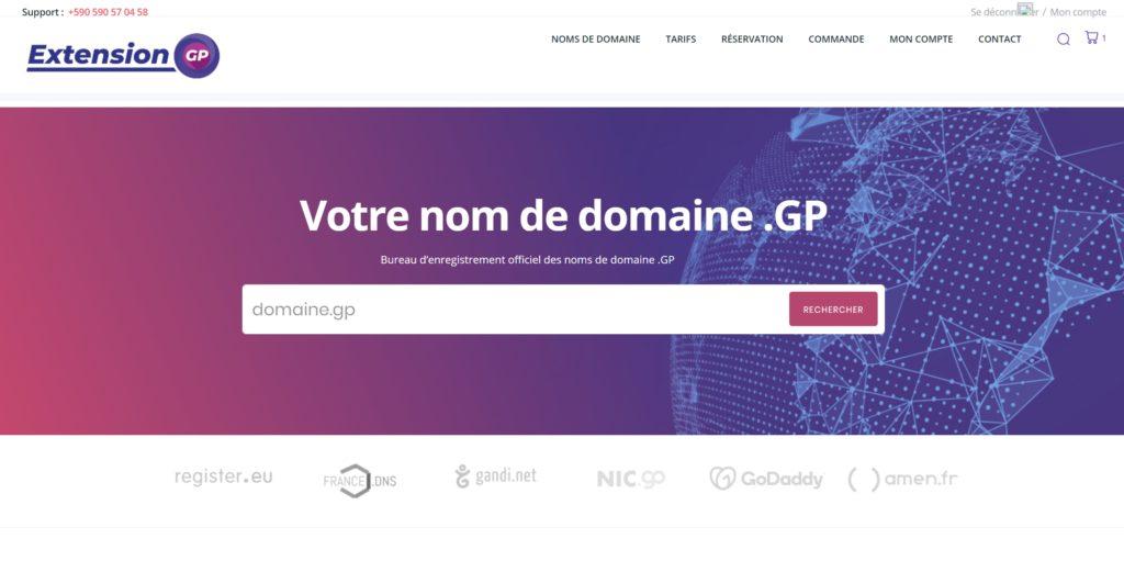 Réserver votre nom de domaine .gp